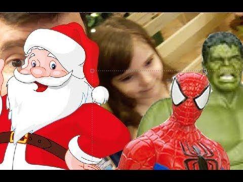 Natal Papai Noel  Rio Sul - Papai RG Hulk Homem Aranha bonecos Marvel e ...