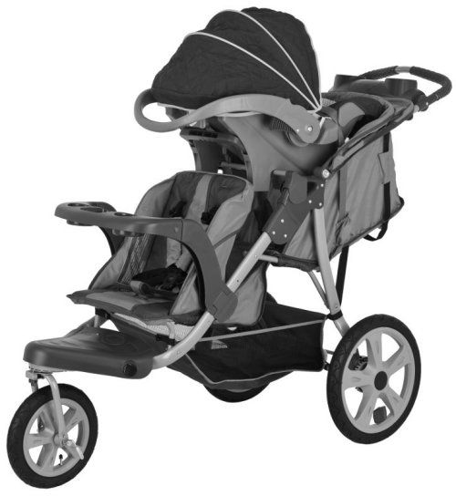 Instep Safari Inline Twin Swivel Double Baby Jogging Stroller AR224 038675022409 | eBay