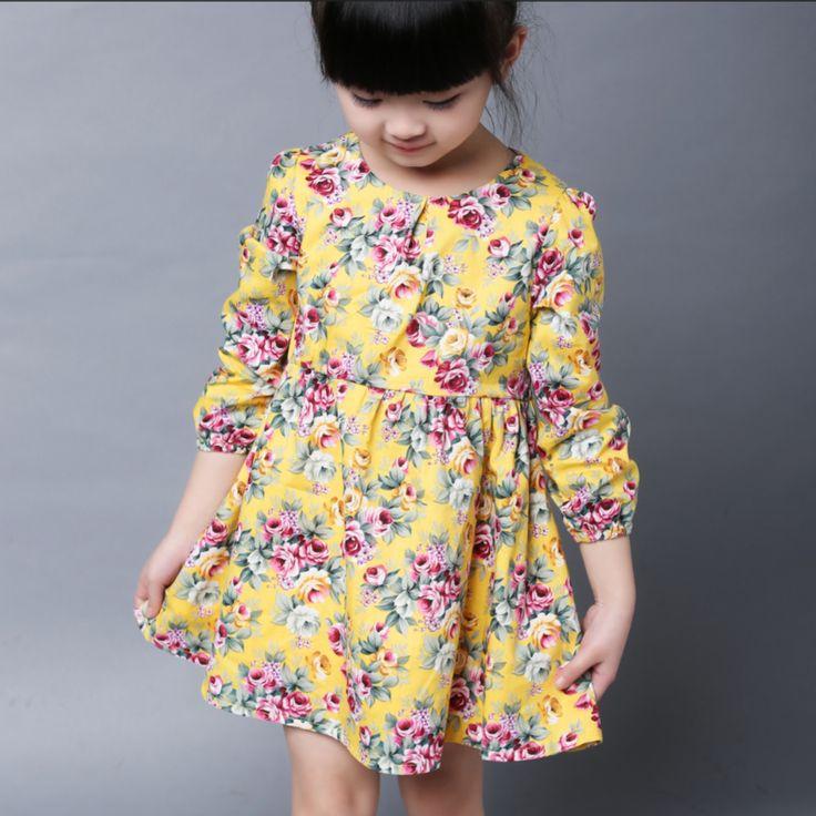 Детское платье с длинным рукавом. 🌐 http://ali.pub/j7b4s US $5.94 (40% off) #aliexpress #алиэкспресс #kids #girl #dress