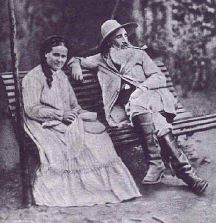 Camille Pissaro et sa femme Julie Vellay en 1877 à Pontoise - Camille Pissarro — Wikipédia