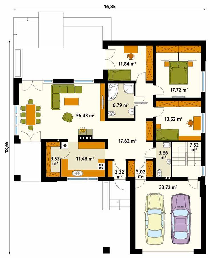 Jest to dom parterowy o powierzchni użytkowej ponad 155 metrów kw., podpiwniczony. W piwnicy mieści się kotłownia oraz trzy pomieszczenia gospodarcze, które można dowolnie zagospodarować (warsztat, pralnia itp.). Do budynku przylega duży, dwustanowiskowy garaż. Część dzienną domu stanowi obszerny salon z jadalnią oraz kuchnia połączona ze spiżarnią. Po przeciwnej strony domu zlokalizowano strefę nocną składającą się z trzech sypialni oraz łazienki. Spory metraż sprawia, że jest tu…