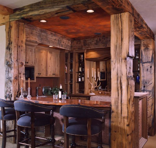 Little In House Bar So Cool Looking With The Wood