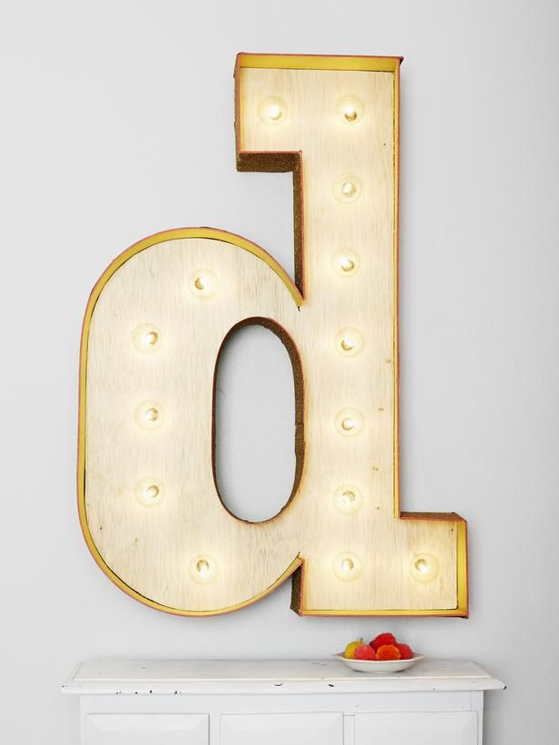 How-to: Marquee Letter Sign : Decorating : Home & Garden Television