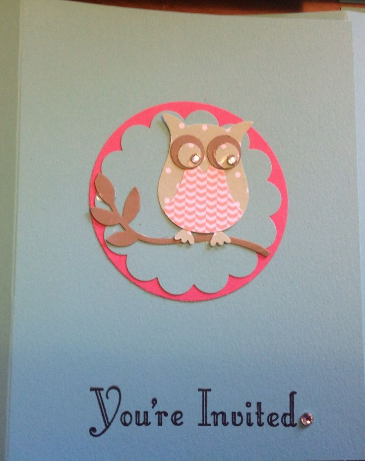 Close up of front of invite xxx