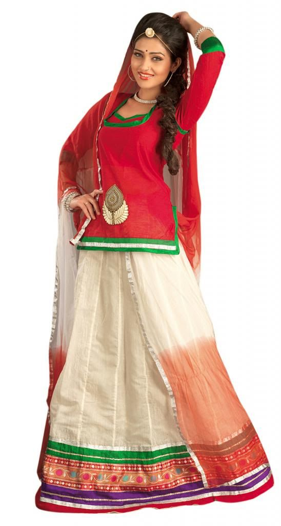 Get a very refreshing look with Da india shop latest collection. DaIndia shop exports different types of traditional Rajasthani Lehengas. Our traditional lehenga is made of different material and exclusively hand worked with multi-colored threads