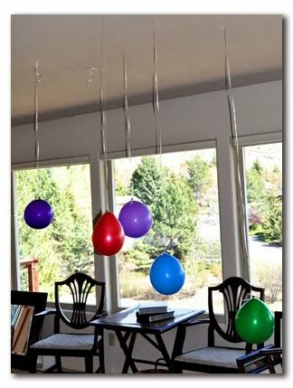 Upside down balloon party Ideas
