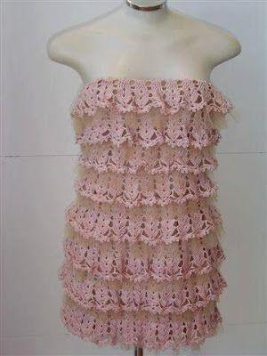 Il blog di Vera Maglia&Uncinetto: abito corto rosa uncinetto