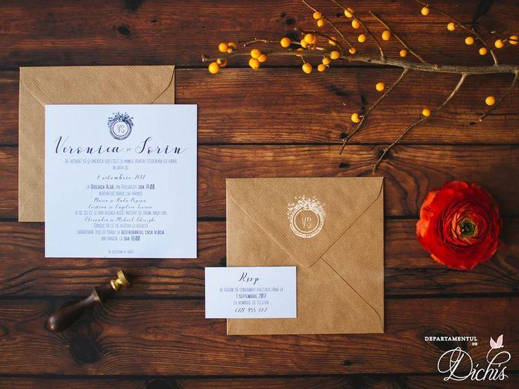 """""""Simplest Kraft"""" Wedding Invitation"""