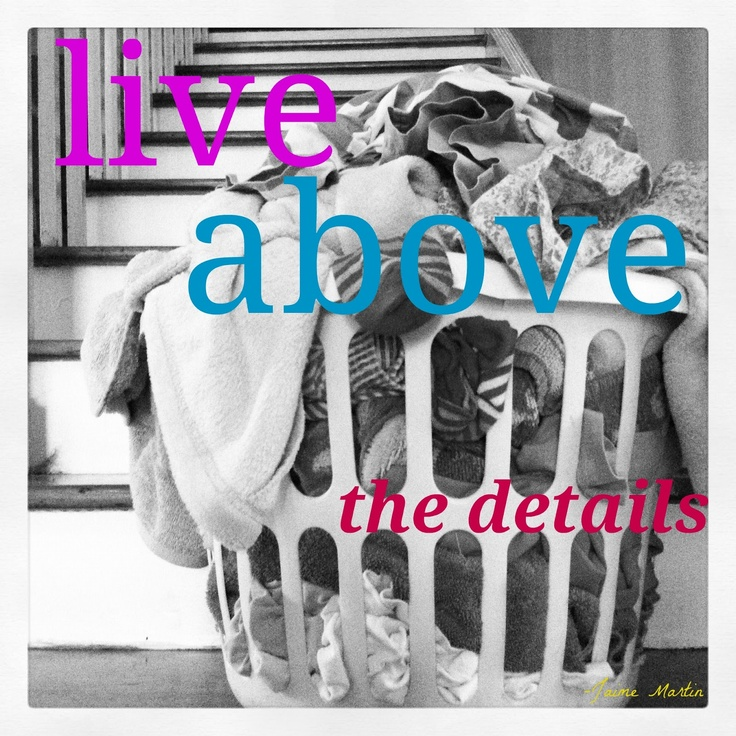 mamascout: monday mission :: live above the details