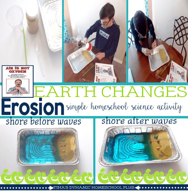 *Erosion Hands-on Easy Homeschool Science Activity* Today, I am sharing an erosion hands-on easy homeschool science activity to learn about earth's changes. ►Read  ►Pin https://www.pinterest.com/pin/138767232246701432/ #homeschool #science #ishnet