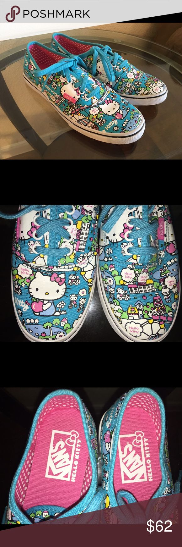 Hello Kitty Vans Limited edition hello kitty vans. These are sold out and very rare. These are practically new I only wore them inside my house. I looove these but just not my style. These are super adorable and need a new home! :) Vans Shoes Sneakers