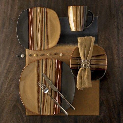 32-Piece-Dinnerware-Set-Dinner-Salad-Plates-Bowls-Mugs-Service-for-8-BROWN