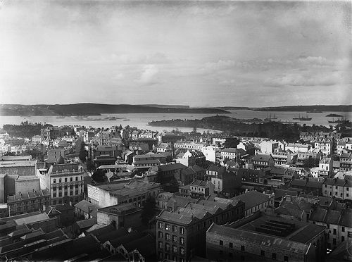 Sydney from GPO tower looking north-east   Circa 1900   Powerhouse Museum