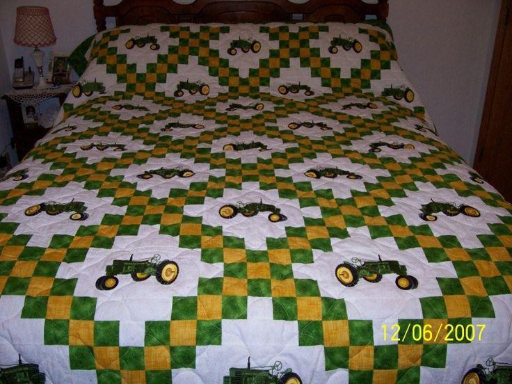 John Deere Quilt Patterns : Best ideas about tractor quilt on pinterest farm