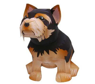 J. Ossorio Papercraft: Yorkshire terrier