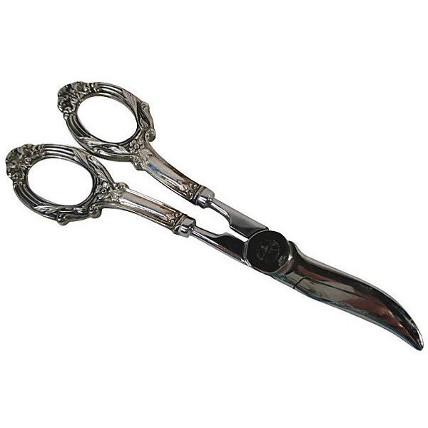 Pre-Owned Sterling Silver Victorian Grape Shears (€175) ❤ liked on Polyvore featuring home, kitchen & dining, serveware and silver