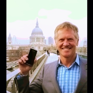 Photo for my cover article in Mergers and Acquisitions Magazine - on the Millennium Bridge, London ...