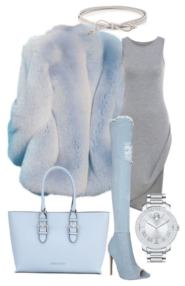 Icey by illetilmote on Polyvore featuring Armani Jeans, Movado and Jules Smith