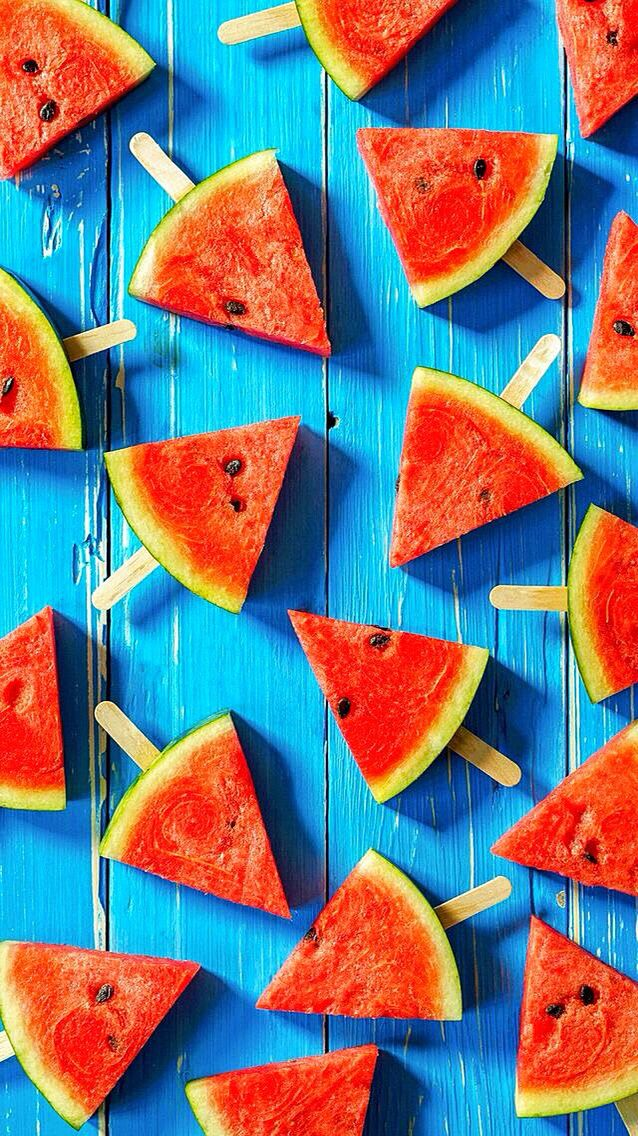 Wallpaper iPhone summer/watermelon /ice⚪️