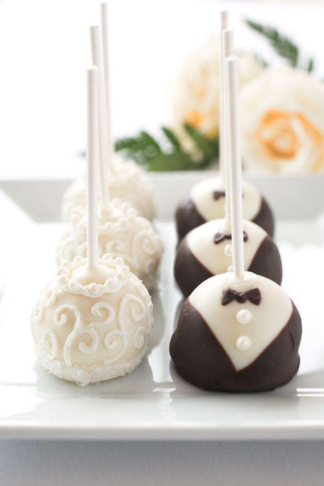 Wedding cake-pops ~ wedding favours