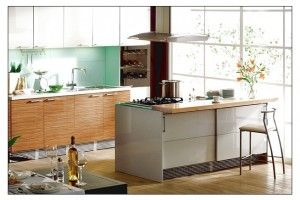 Modern Simple Design Kitchen With Wine