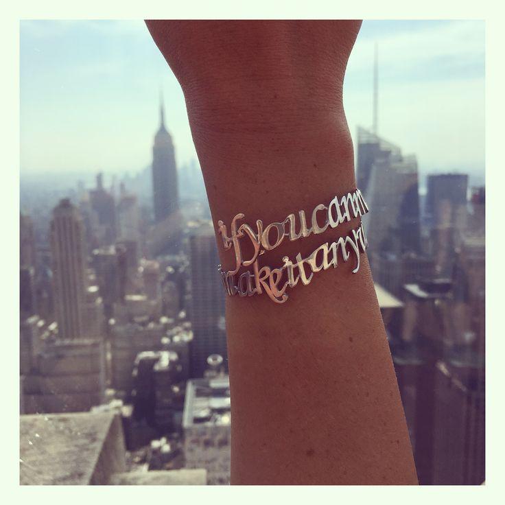 If you can make it there...#antoniakarra @antoniakarra #sinatra #jewelry #silver #cuff #newyork #nyc