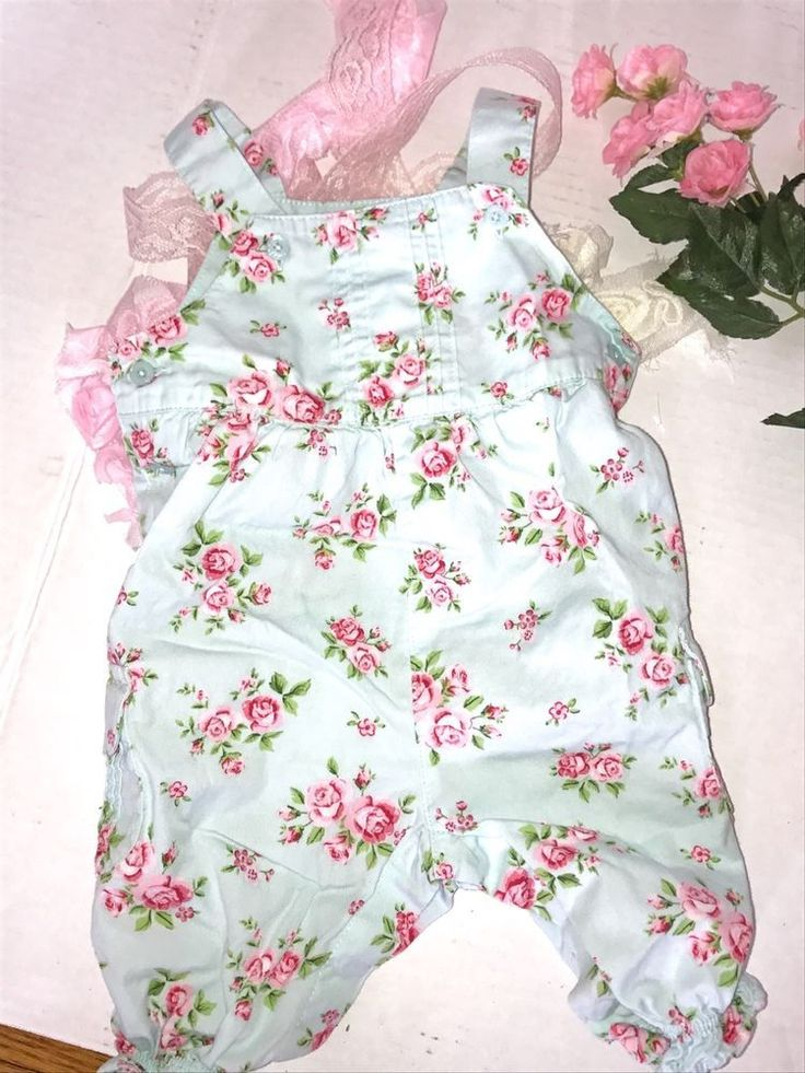 Shabby Romantic Cottage Floral Jumper for Baby Girl 3 months EUC  | eBay