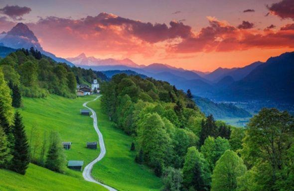 Garmisch-Partenkirchen,  Bavyera, Almanya