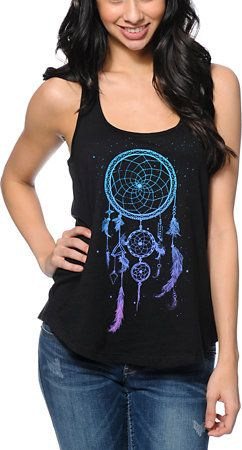 Empyre Girls Dream Catcher Black Racerback Tank Top at Zumiez : PDP