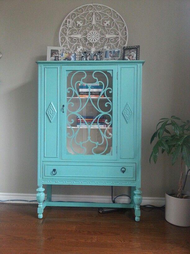 i have same cupboard .. no glass .. interesting color ..