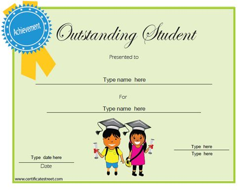 Colorful Student Certificates Image - Online Birth Certificate - student council certificates