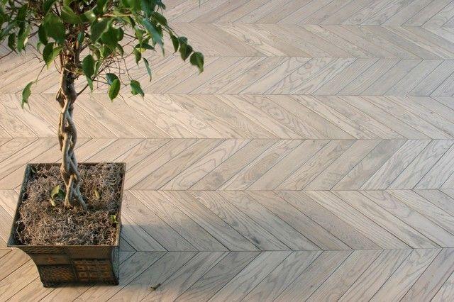White Washed, Hardwood Pattern, Ash Herringbone, Brazilian Cherry,  And Light Brazilian Cherry - Traditional Spaces By Plantation Hardwood Floors