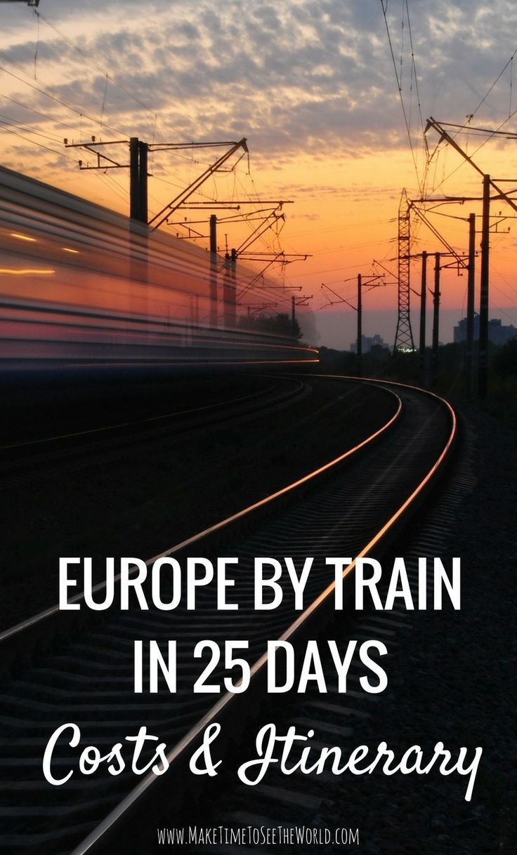 Europe By Rail in 25 days - Costs & Itinerary: Join me as I spend 3-4 weeks exploring 10-12 major European Cities by train including: Amsterdam, Berlin, Prague, Krakow, Budapest, Vienna, Venice, Florence, Pisa, Rome & Dubrovnik! *********************************************************************** Europe By Train   Train Travel Europe   Europe Interrail   EU Rail Pass   Europe By Rail   Europe By Train Itinerary