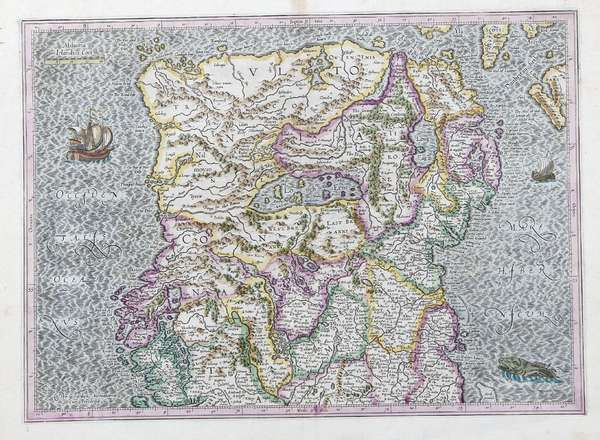 LOT:580 | Gerard Mercator, 1512-1594 Ireland - The Northern Half and Southern Half of the country coloured engraving. 470 x 550mm - sheet note these maps are frequently found conjoined.