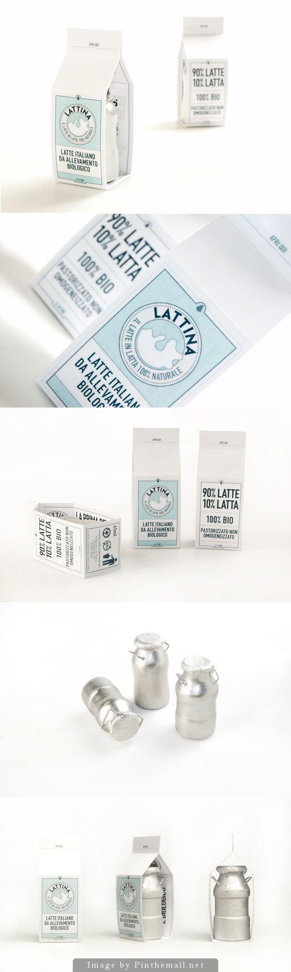 LATTINA (Latte in lattina) Milk packaging design concept PD