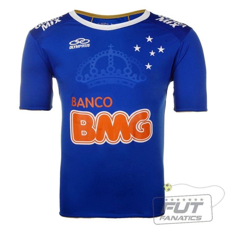 Camisa Olympikus Cruzeiro I 2014 Libertadores - Fut Fanatics - Compre Camisas de Futebol Originais Dos Melhores Times do Brasil e Europa - Futfanatics