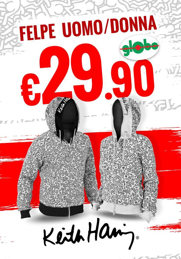 """In arrivo le mitiche felpe Uomo/Donna firmate """"keith haring"""" all'incredibile prezzo di €29.90!!!!"""