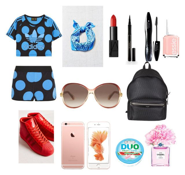 """#SorryJB"" by ashleycagauan on Polyvore featuring adidas Originals, Urban Renewal, adidas, Marc Jacobs, NARS Cosmetics, Elizabeth Arden, Lancôme, Yves Saint Laurent, Chanel and Essie"