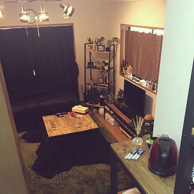 部屋全体 アンティーク Diy カフェ風 一人暮らし などのインテリア実例 2016 01 24 19 45 13 Roomclip ルームクリップ 部屋 インテリア インテリア 1dk インテリア 家具