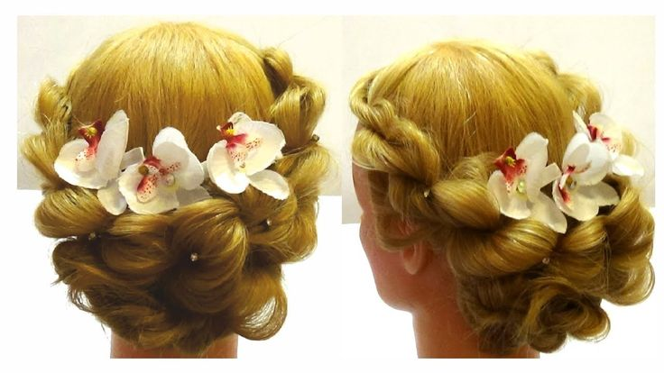 Wedding hairstyle.Festive haircut.Праздничная прическа
