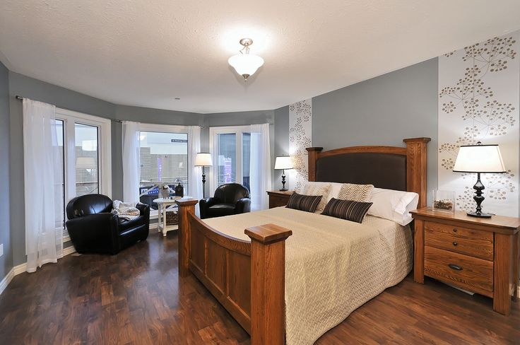 www.qualityhomes.ca  Master bedroom in the trent cottage model.