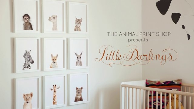 Little Darlings nursery art series from The Animal Print Shop by Sharon Montrose.