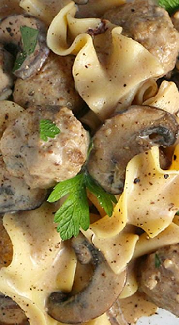 Turkey Meatball Stroganoff