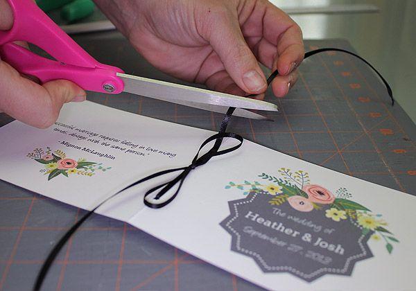Printable Flower Garden Wedding Program photo | The Budget Savvy Bride