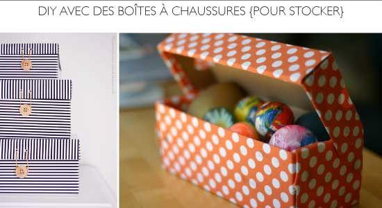 15 projets DIY à faire avec des boîtes à chaussures et leurs couvercles.