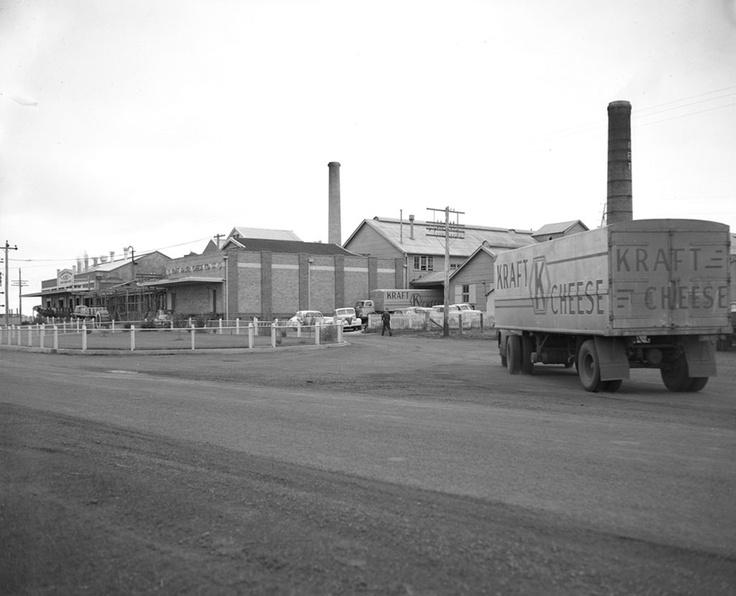 1952 1952  Kraft Walker Cheese factory on Allandsford-Nirranda Road near Allansford. VicRoads Centenary 1913-2013. www.vicroads.vic.gov.au/centenary