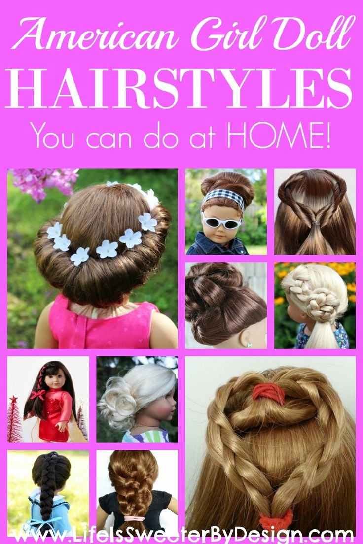 You can fix your 18 inch doll or American Girl Doll's hair at home! This round up of hairstyles for your doll will inspire you and your child to be creative!