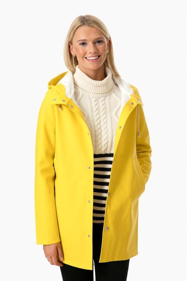 d7086eb6a1 Women s Yellow Stockholm Raincoat in Yellow by Stutterheim - Tnuck ...