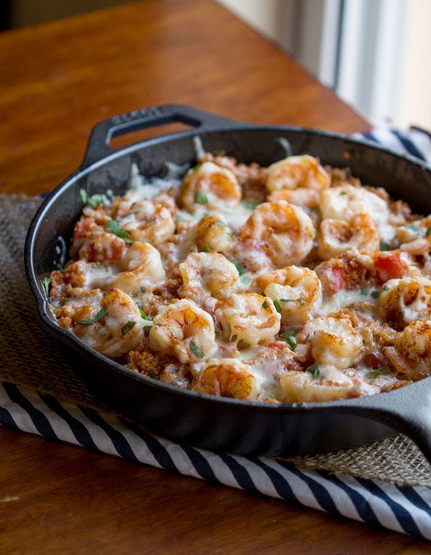 Cajun Shrimp Quinoa Casserole