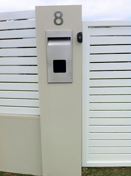 ModularWalls letterbox - post mounted and stylish!